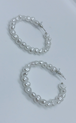 Miranda Pearl Hoop Earrings - Missfiga.com
