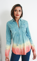 Brandi Soft Denim Shirt Dress - Missfiga.com