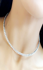 Camila Single Diamante Choker Necklace - Missfiga.com