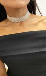 Ariana Wide Diamante Choker Necklace - Missfiga.com