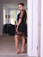 Love Black Mesh Smock Dress