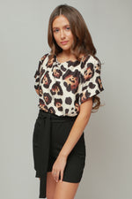 Siobhan Leopard Batwing Wrapped Front Playsuit - Missfiga.com