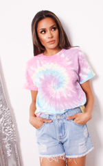 Mackenzie Washed Multi Tie Dye T Shirt