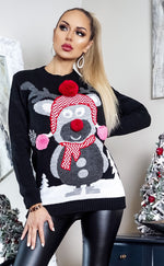 Xmas Black Reindeer Christmas Jumper