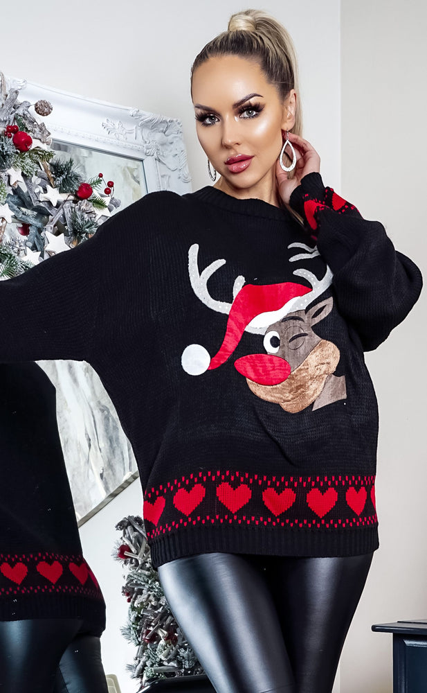 Xmas Red Rudolph Christmas Jumper
