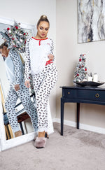 Xmas Puppy Grey Marl Christmas PJ's