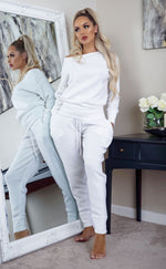 Ivory Comfy Pocketed Loungewear Set - Missfiga.com