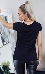 Scarlett Black Longline O-Ring Zip Detail Top - Missfiga.com