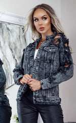 Laura Grey Rip Detail Denim Jacket