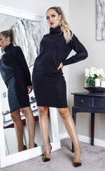 Sally Black Turtle Neck Knit Co-ord Set