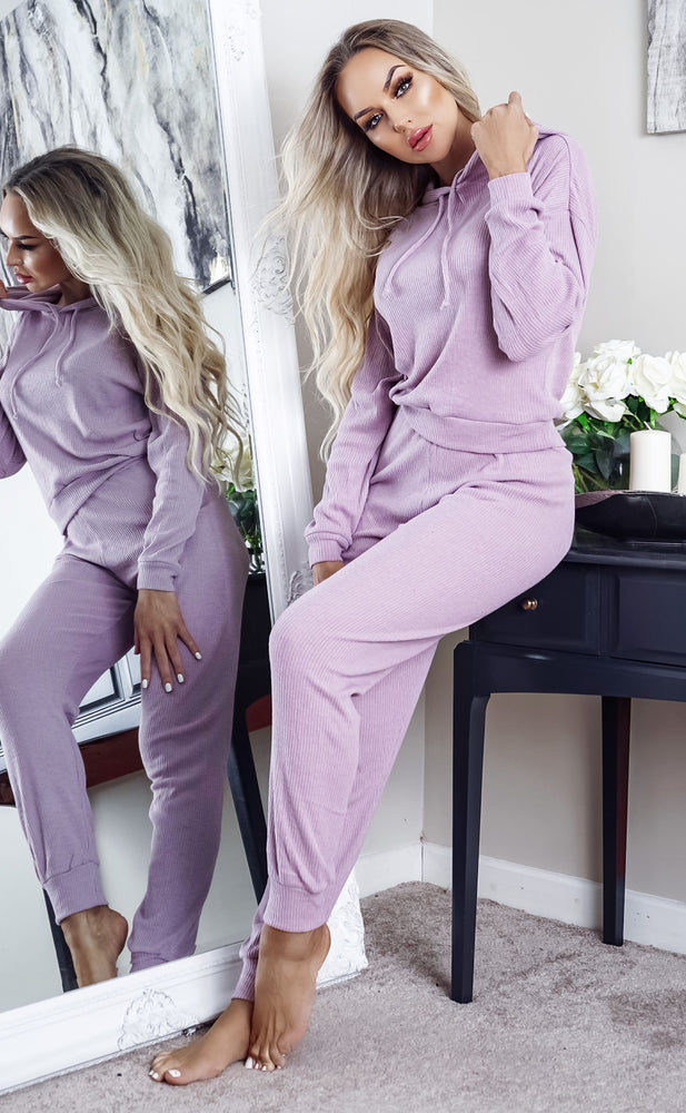 Asile Lilac Knitted Loungewear Bottom - Missfiga.com