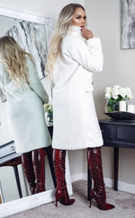 Kyra Cream Maxi Button Up Trench Coat - Missfiga.com