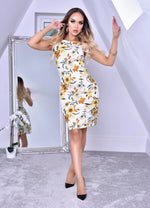 Aspen Yellow Floral Midi Dress