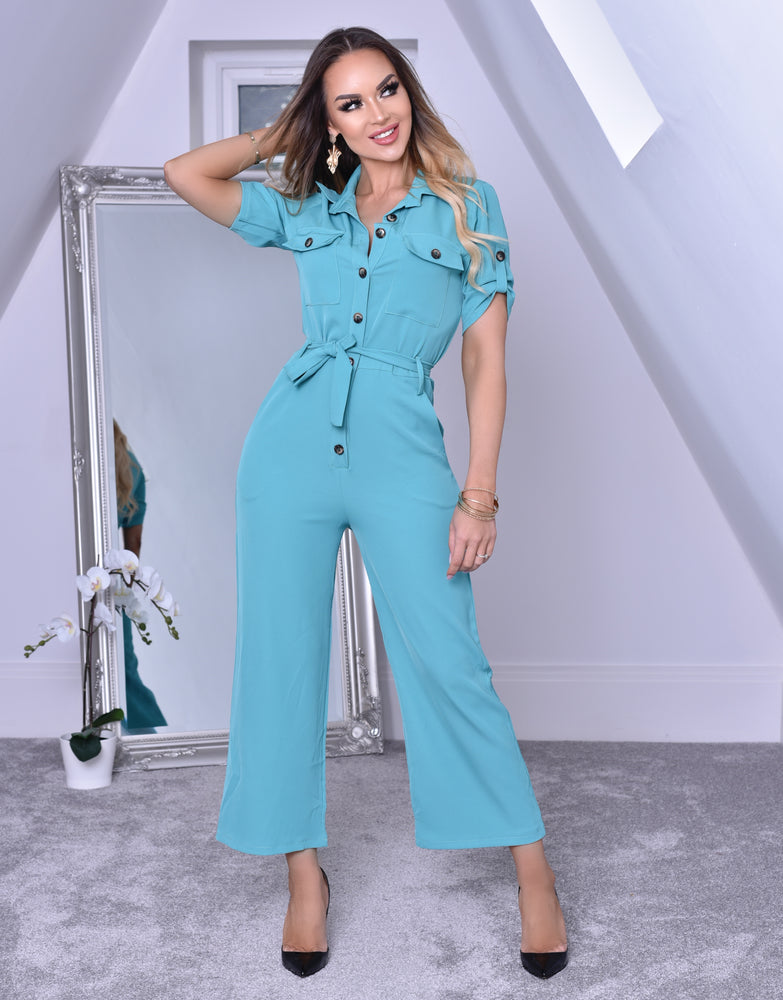 Blue Utility Jumpsuit