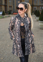 Camilla Leopard Button Up Trench Coat