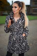 Zara Zebra Double Button Coat