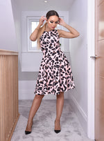Natasha Leopard Flared Skater Dress