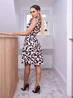 Natasha Leopard Flared Skater Dress - Missfiga.com