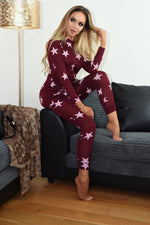 Wine Star Two Piece Loungewear Set