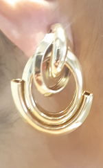 Gaynor Gold Twisted Door Stopper Earrings - Missfiga.com