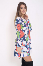 Blue Penguin Christmas Swing Dress