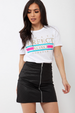 Always Perfect White Slogan T Shirt