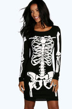 Halloween Skeleton Long Sleeve Bodycon