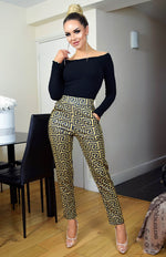 Rita Mustard Pocketed Trousers