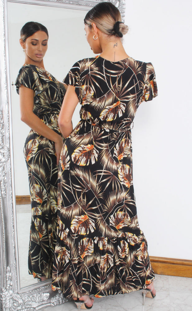 Arie Tropical Wrap Maxi Dress