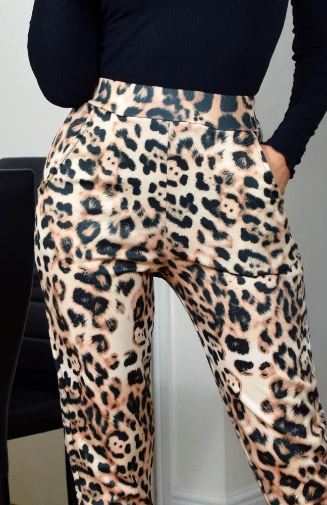 Savannah Leopard Pocketed Trousers