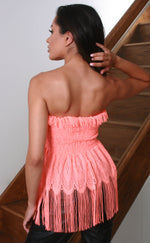 Orange Tassel Bandeau Top - Missfiga.com