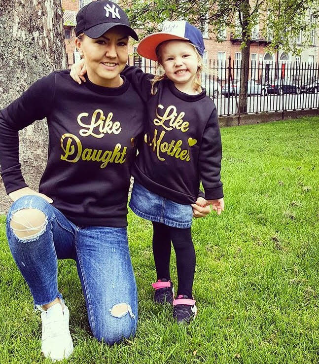 Black Like Mother Like Daughter Matching Jumpers