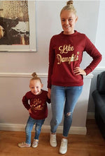 Wine Like Mother Like Daughter Matching Jumpers