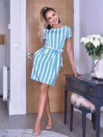 Sophie Linear Short Sleeve Polka Dot Tulip Dress