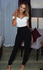 Tabitha Monochrome Bardot Off the Shoulder Jumpsuit