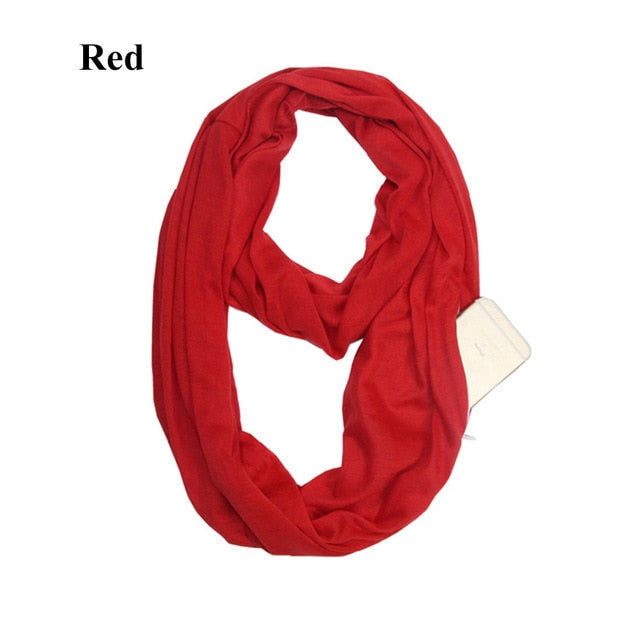 09ce7a5c99659 Infinity Scarf With Pocket - Easy to hide phone, money, lipstick ...