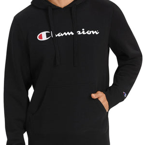 Champion Reverse Weave Script Pullover Hoodie (Black)(asian sizing)