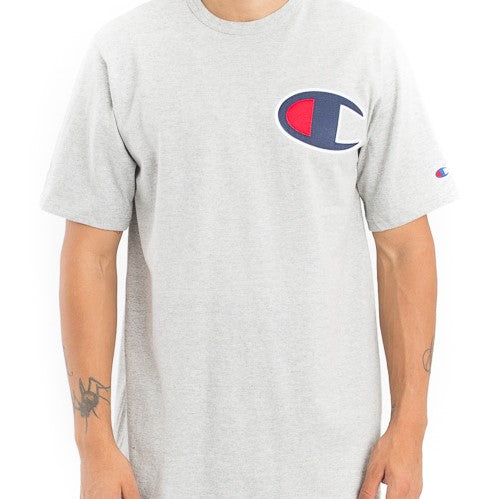 Champion Large Logo Heritage Tee (Oxford Grey)