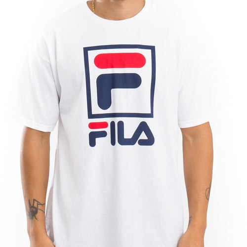 FILA Stacked Tee (White) (onhand)