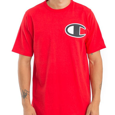 Champion Large Logo Heritage Tee (Team Red Scarlet)