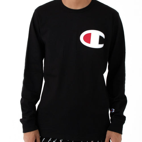 Champion Big Logo Heritage Long Sleeves (Black)