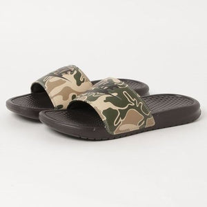 "Nike Benassi ""Just Do It"" Print Velvet Brown Camo"