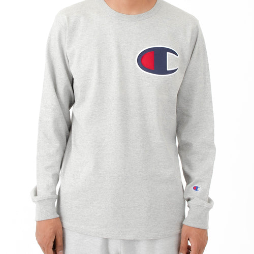Champion Large Logo Heritage Long Sleeves (Grey)
