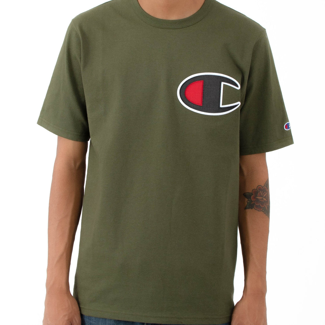 PRE- ORDER: Champion Large Logo Tee (Green) (Nov. 18 arrival)