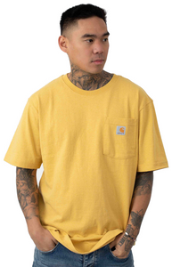 Carhartt K87 Workwear Pocket T-Shirt (Misted Yellow Heather - 720)(Oversized fit)