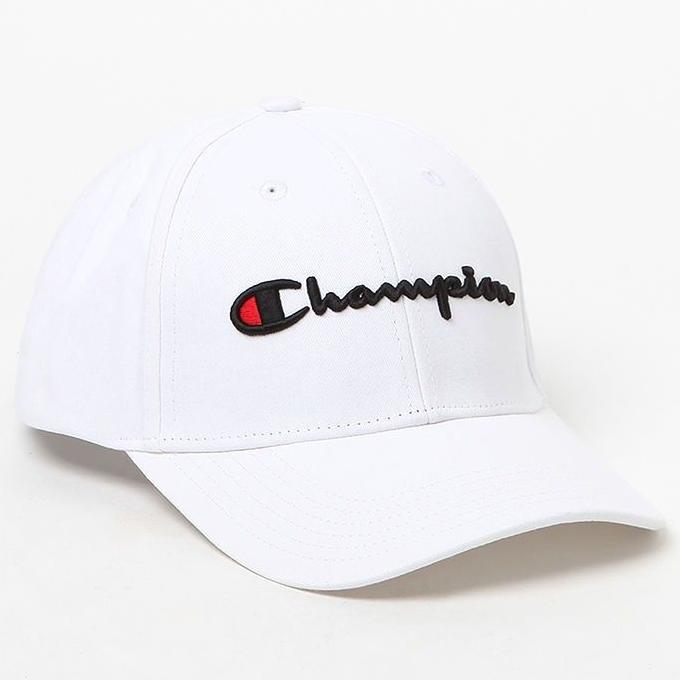 Champion Classic Twill Strapback Dad Hat (White)