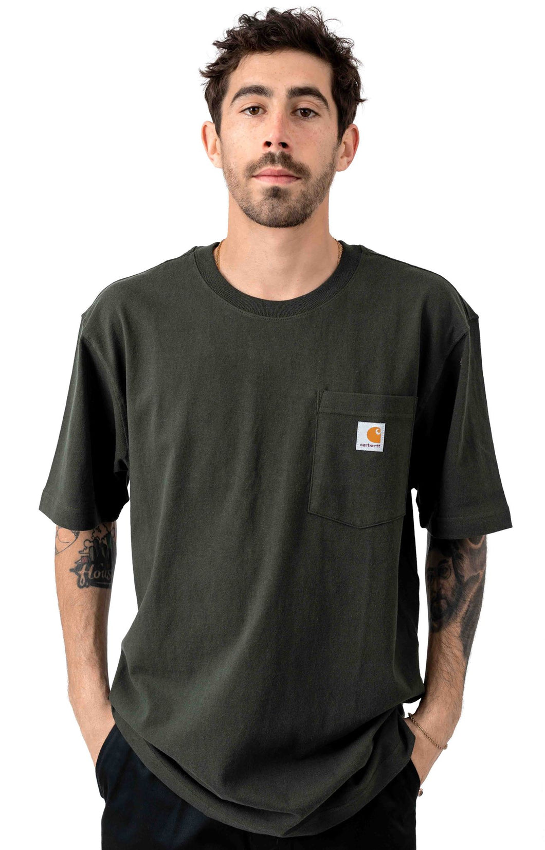 Carhartt K87 Workwear Pocket T-Shirt (Peat - 306)(Oversized fit)