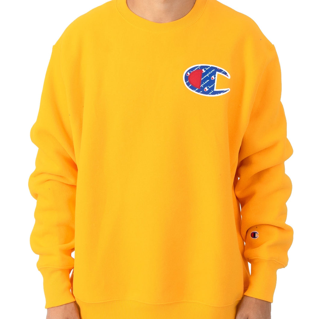 Champion Reverse Weave Sublimated C Logo Crewneck (Gold)
