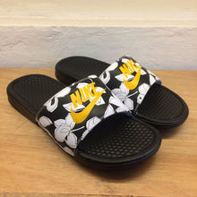 Men's Nike Benassi JDI Print Floral (Black/University Gold/White)(631261-034)