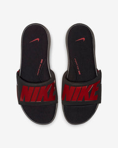 Nike Ultra Comfort Slides (Black Red)